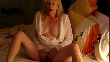 Mom on bed