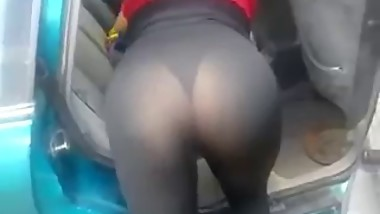 mom in see thru tights