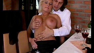 german mom enjoys her first anal sex