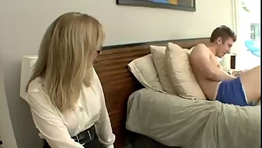 Mom walked in on not get son masturbating and helps