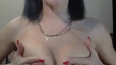 Russian mommy talks to a boy on webcam