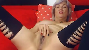 Older lady playing with her pussy