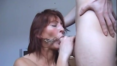 Very Horny Mommy cant Wait for Young Cock