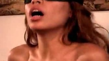 Alexis Amore rides blindfolded