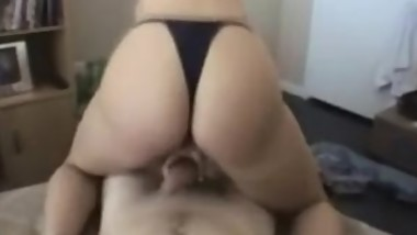 Sexy Wife in Thong Fucking