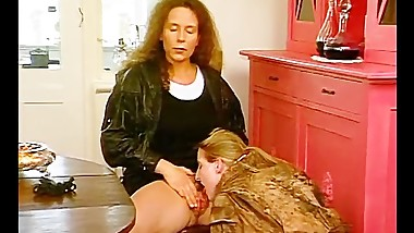 Lesbian cougars go down on each other