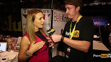 PornhubTV Tanya Tate Interview at eXXXotica 2014 Atlantic City