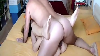 ATM slutty mom Milf doing awesome job on the couch