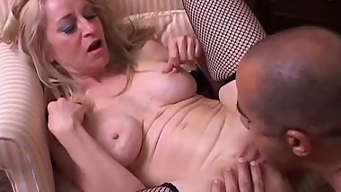 Kinky old spunker gives a sloppy rimjob and gets a sticky facial