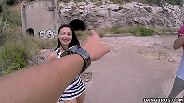Aletta Ocean anal fucked in a cave2