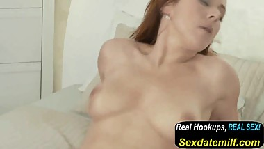 Mom Naughty Redhead MILF in Stockings Has a Fuck
