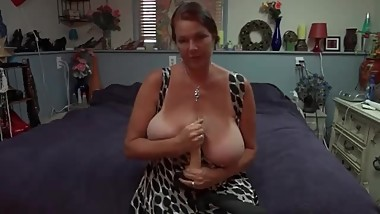 Dirty talking Big titted MilF tells you to spunk on Mommy's Titties