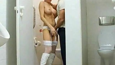 Horny club attendat from casualmilfsex(dot)com sex in the toilet