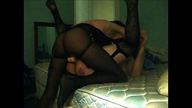 Kinky Couple in Lingerie Use Strapon