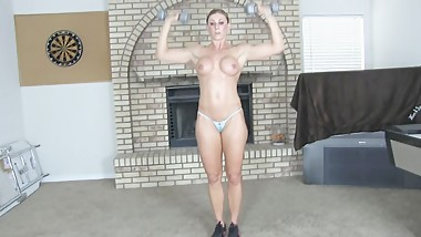 Goddess rapture does a hard workout for you
