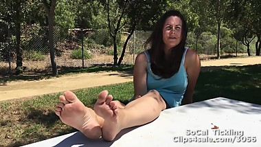 Abigail Outdoors Barefoot Part 3
