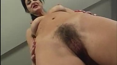 Hairy Mom & Shaved Daughter Share A Hard Cock
