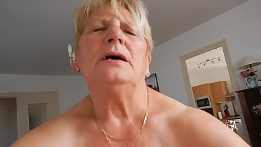 Granny ride dick cowgirl mature