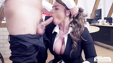 BUMS BUERO - Valentine's Day office fuck with busty German MILF secretary