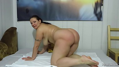 big tits and a bottle in the ass mature aunt