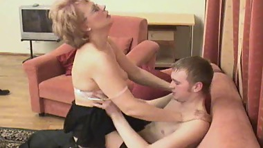 Russian mom is fucked by her boy