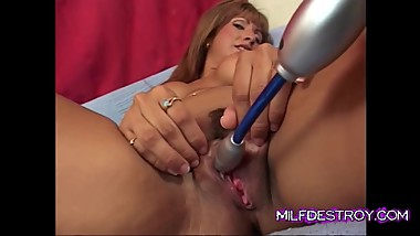 Latina Mature Uses a Vibrator