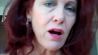 Dirty Talking Redhead Mommy & Son