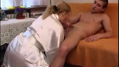 Mature Hot Mom With Young Boy